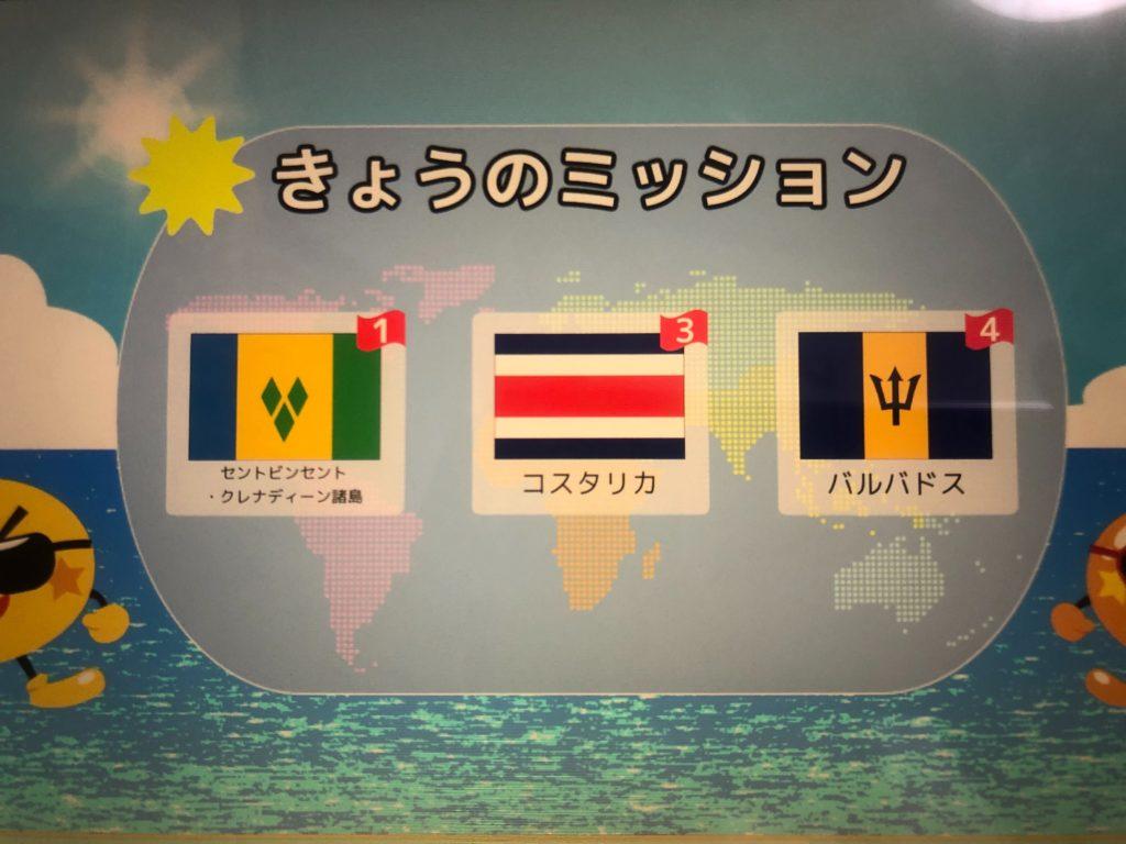 国旗選択画面